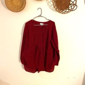 Old Navy Maroon Tunic